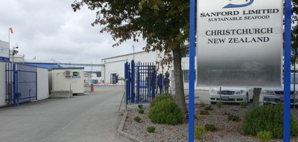 The Sanford Seafood factory gates. Photo: RNZ