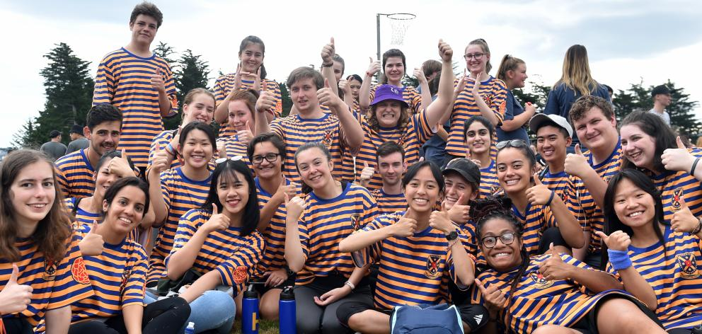 Hayward College students band together during the sports day.