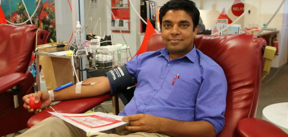 Abhinay Verma is a first time donor in New Zealand and said he wanted to help. Photo: RNZ