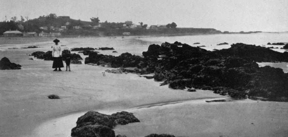 Kaka Point and the beach, near Port Molyneux, a favourite holiday resort. - Otago Witness, 26.3.1919.