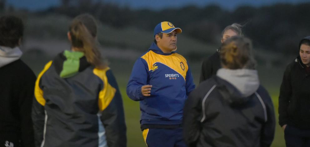 Kane Jury, seen here with Otago Spirit players, is embarking on a role with the Fiji national...