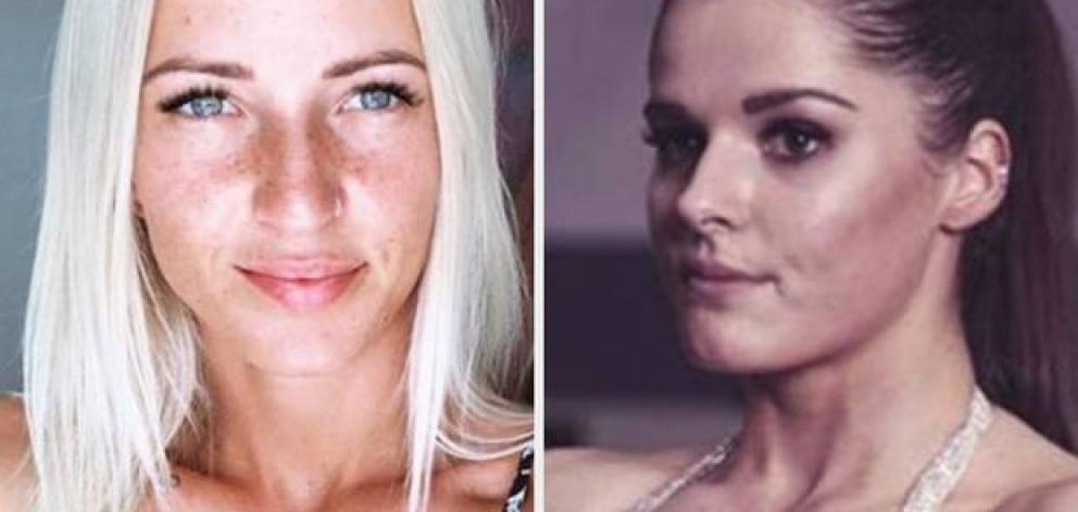 Mikayla Lennon (left) has threatened to cancel her Les Mills membership a week after bodybuilder Ashleigh Pope was banned from training at the gym. Photos: Instagram