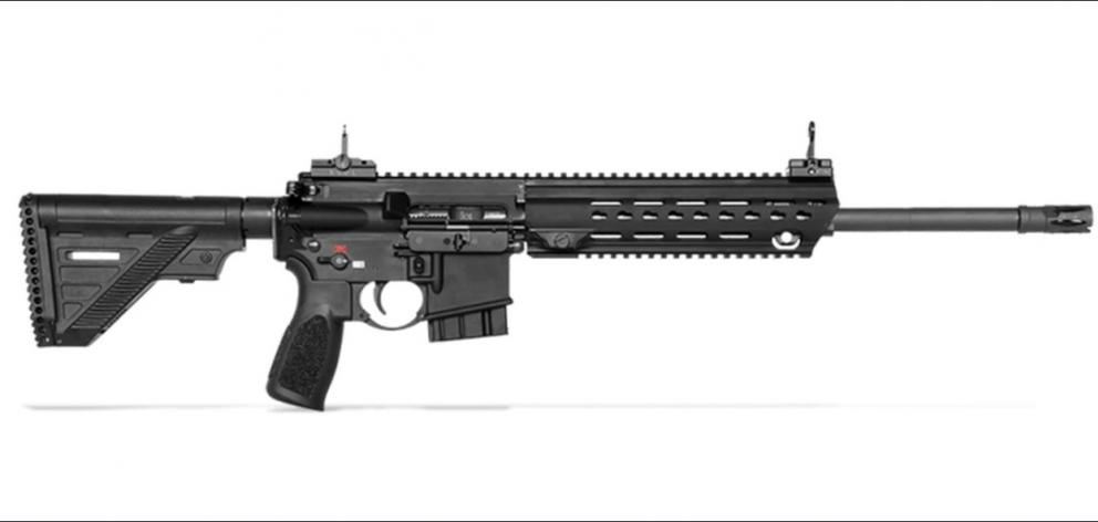 An MR 223 rifle, as pictured on the website of Heckler and Koch, a German arms manufacturer....