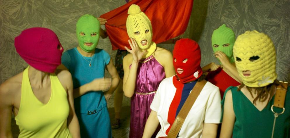 Russian activist punk band Pussy Riot will play in Dunedin next week. PHOTO: IGOR MUCHIN