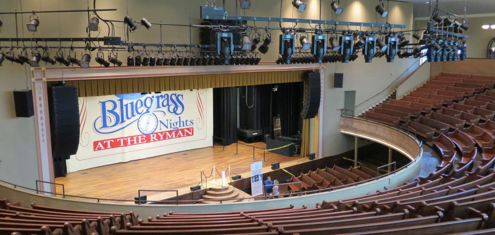 Ryman Auditorium, the ''Carnegie Hall of the South''. PHOTOS: MIKE YARDLEY