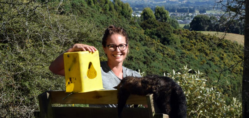 Chain Hills Community Trapping Project founder Rebecca Guest has used Timms traps to dispatch more than 40 possums on her 17ha property in Chain Hills and has invited her neighbourhood to unite in the battle. Photo: Shawn McAvinue