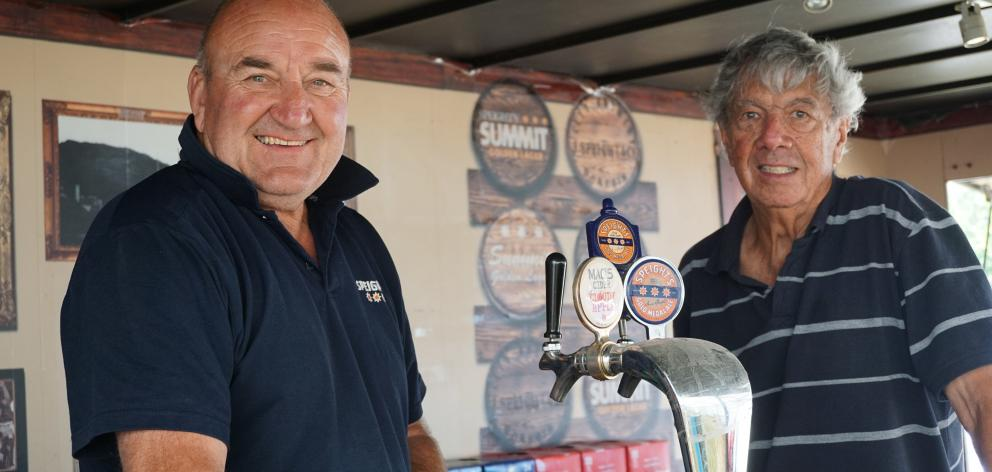 The bar is likely to be a popular spot for many tired cavalcaders today. Lake Hawea duo Dave...