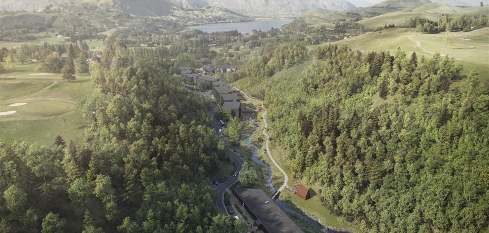 An aerial image of the Waterfall Park development. Image: Supplied