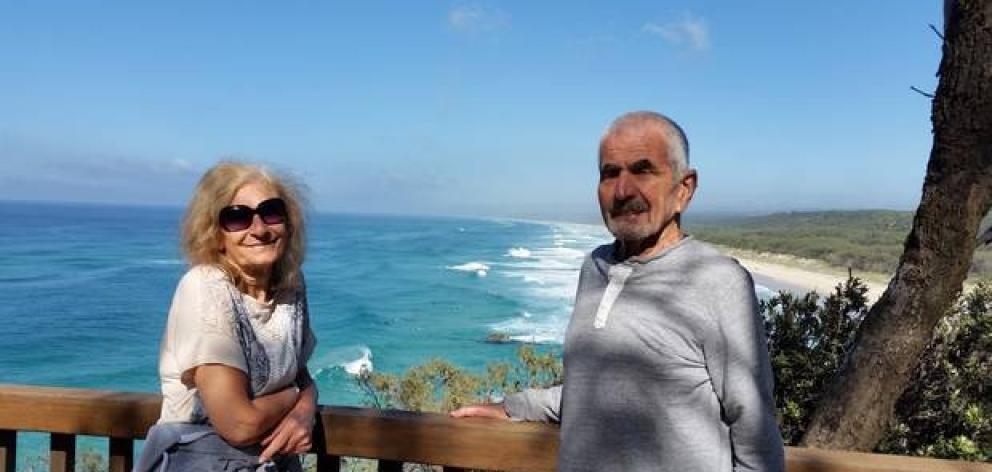 Pat Davidson and her long-term partner Bruce Steedman. Photo: Supplied via NZME.
