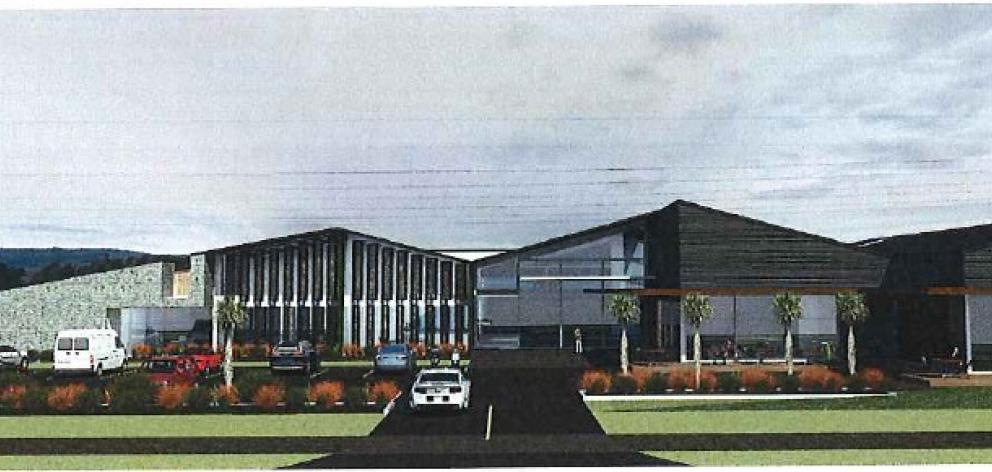 An architect's impression shows the entrance of the proposed expansion at the Otago Polytechnic's...