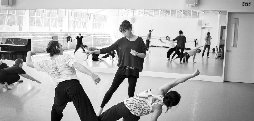 Victoria Columbus works with dancers on her new work for Wanaka's Festival of Colour. Photos: John McDermott