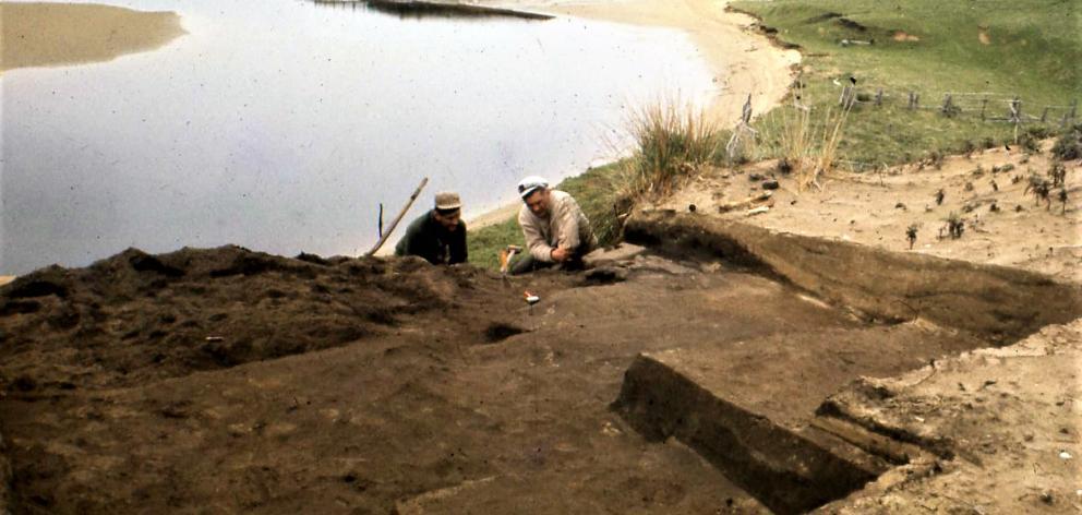 Bill Knox (right) at a site at Tautuku. Photo: Supplied
