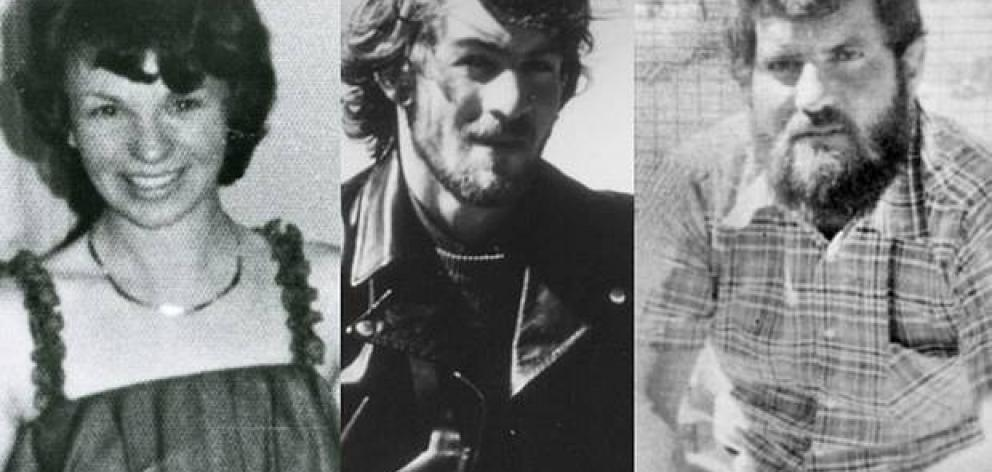 Karen Edwards, Gordon Twaddle, centre, and Timothy Thomson were found dead from gunshot wounds on October 24, 1978. Photo: NZME