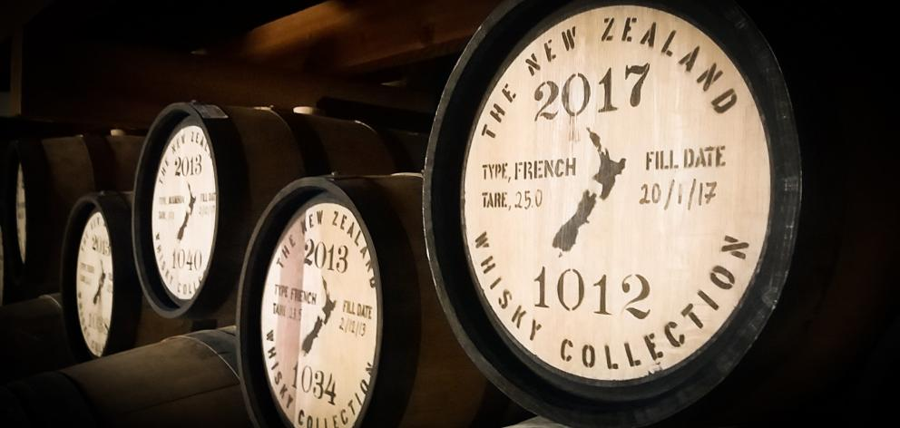 New Zealand Whisky Collection barrels. PHOTO: SUPPLIED