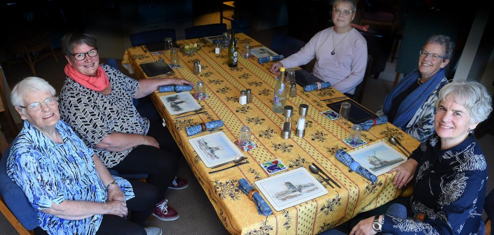 Abbeyfield New Zealand executive officer Susan Jenkins (right) visits the organisation's Dunedin...