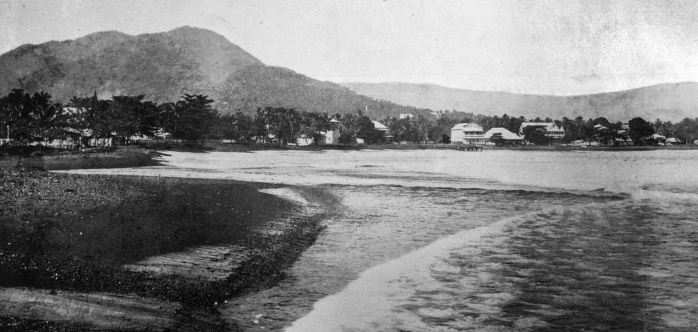 The town of Apia, Samoa and the waterfront. - Otago Witness, 14.5.1919