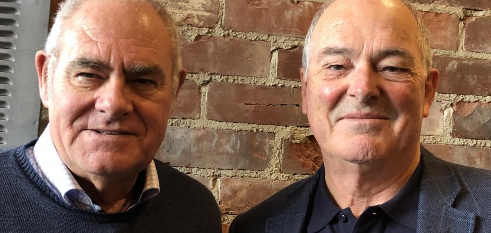 Otago Community Trust chairman Ross McRobie (left) and Clutha Foundation chairman Bill Thomson. Photo: Bill Thomson/Supplied