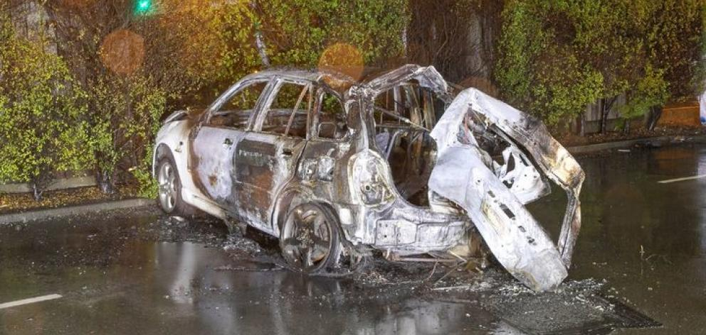 The remains of the car after the crash that claimed three lives. Photo: Supplied / NZ Police