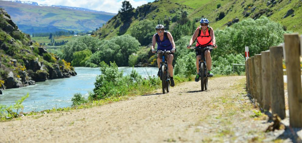The Clutha Gold Great Ride Cycle is to be expanded to 136km. Photo: ODT files