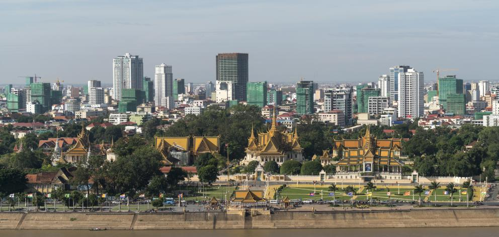 Phnom Penh, cityscape with Royal Palace. Photo: Getty Images