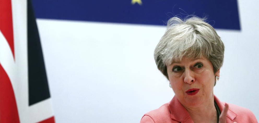 British Prime Minister Theresa May. Photo: AP