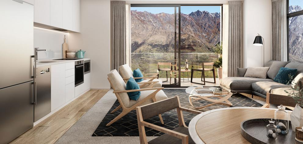 Nevis Apartments: A stunning view from a residential unit. Photo: Supplied