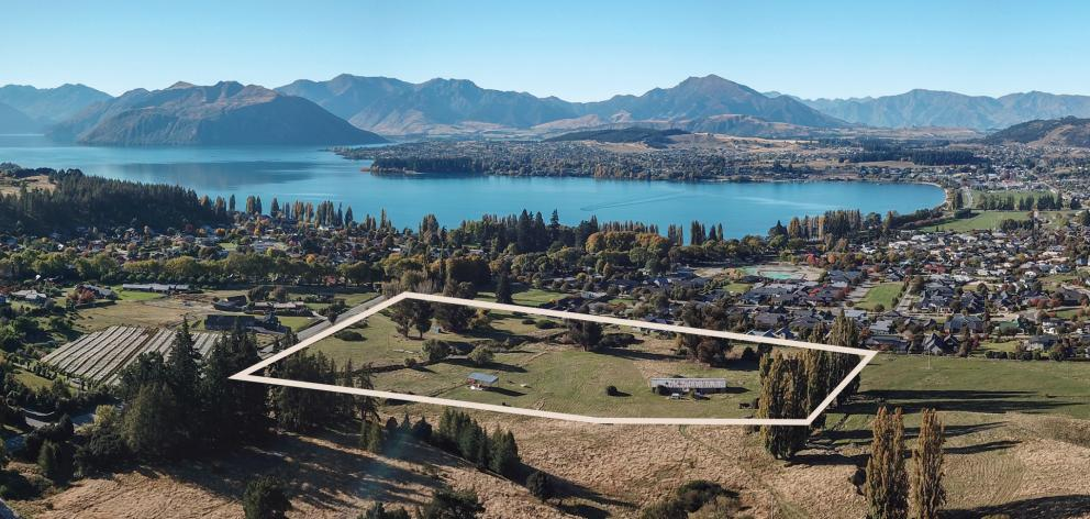 A 6ha site could become a high-end luxury retirement village in Wanaka. PHOTO: SUPPLIED