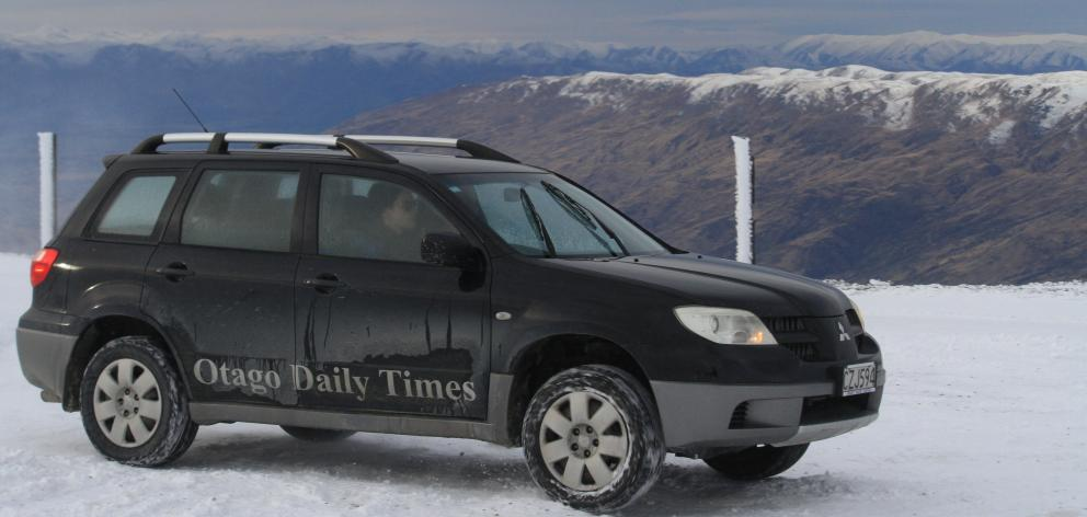 For the handful of Otago Daily Times regional reporters preparing to tackle winter coverage, this is the backdrop of a driving course held in Wanaka last week. Photo: Hamish MacLean