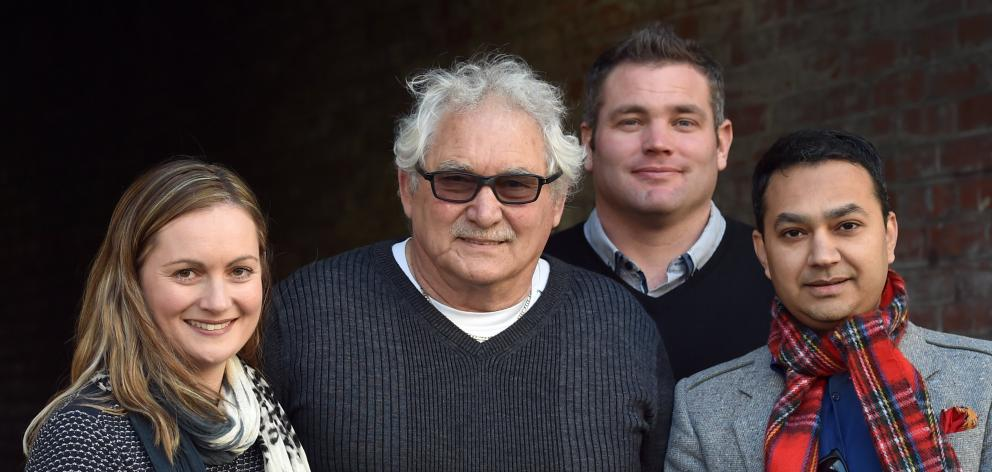 Entrepreneurs (from left) Pearl O'Callaghan-Hall, Beven O'Callaghan, Jeremy Hall and Sid...