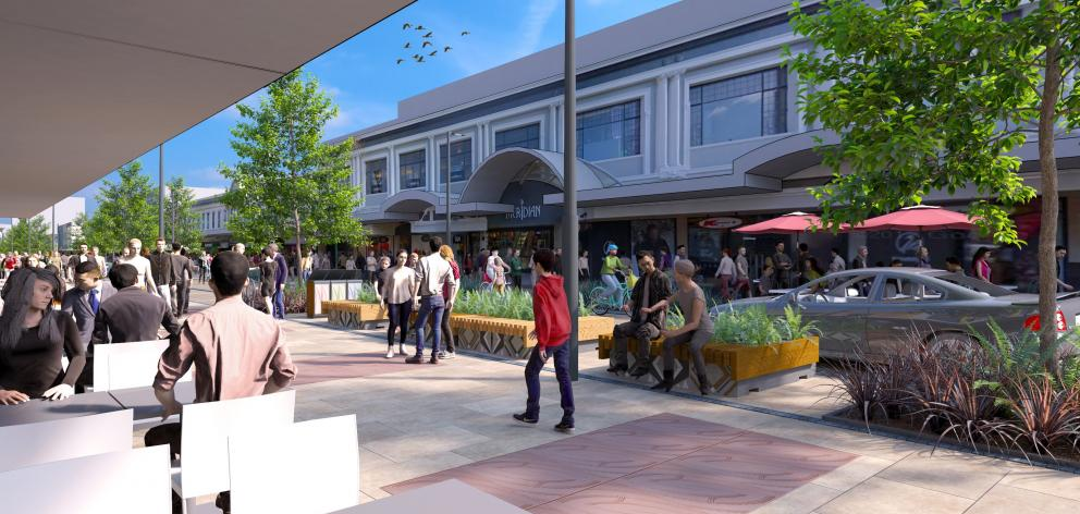 What a section of George St might look like. IMAGE: DUNEDIN CITY COUNCIL
