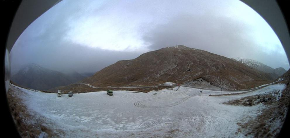 The Crown Range this morning. Image: MetService