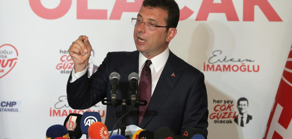 Ekrem Imamoglu, mayoral candidate of the secularist Republican People's Party (CHP), was leading with 54% of votes. Photo: Reuters