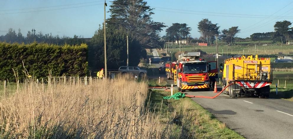 About 20 firefighters were called to a rural property to battle a fire in Invercargill this...