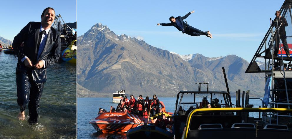 Is it a bird? is it a plane? No, it's Hamish Walker, MP for Clutha-Southland, in the Queenstown...