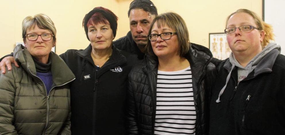 Sanford employees (from left) Karen Wilson, Linda Evans, Andrew Ryan, Leanne Davis and Tabitha...