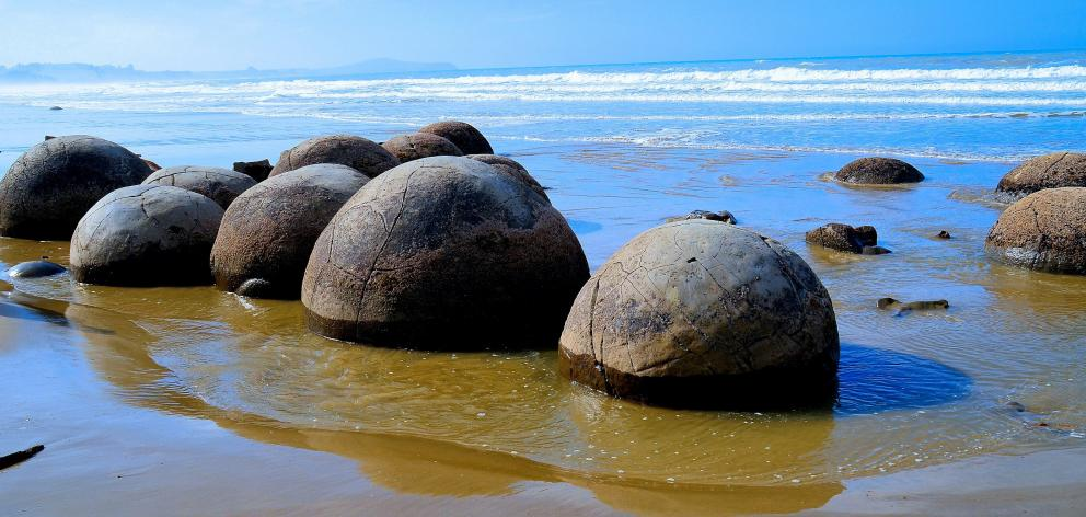 Treated wastewater will no longer be discharged on the beach near the Moeraki Boulders. Photo:...