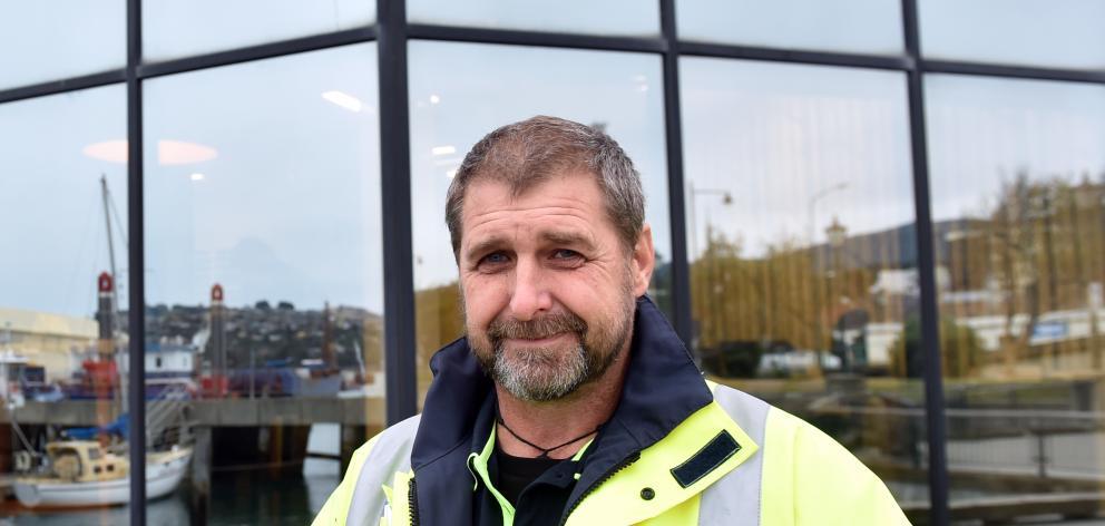 Otago's new deputy harbourmaster Pete Dryden surveys ships at the Steamer Basin. PHOTO: JONO EDWARDS