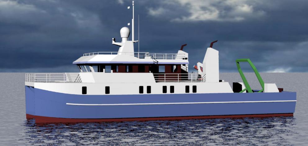奥塔哥大学拟议研究船Polaris III的多船体设计概念....