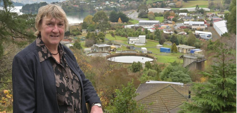 Standing with the Dunedin Community Salmon hatchery in Sawyers Bay in the background is former...