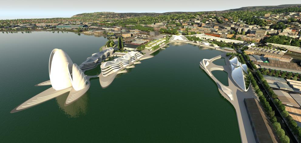 Architecture Van Brandenburg's proposal for development of the Steamer Basin area. Photo:...