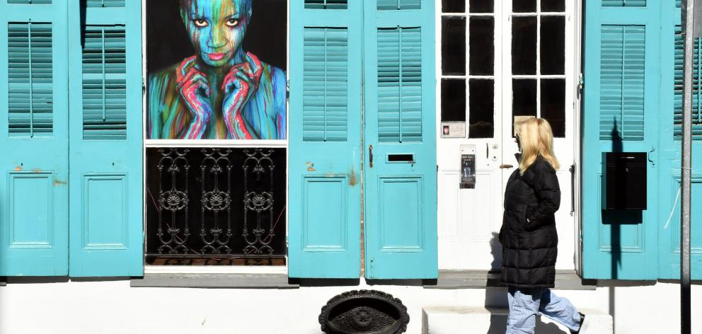 One of New Orleans' many art galleries in Royal St.
