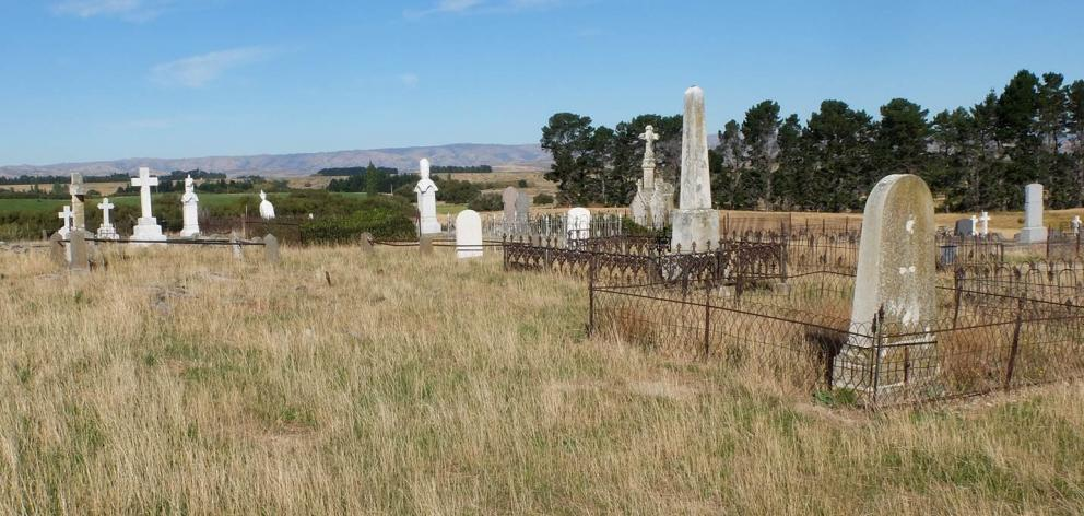 The Drybread Cemetery. Photo: University of Otago
