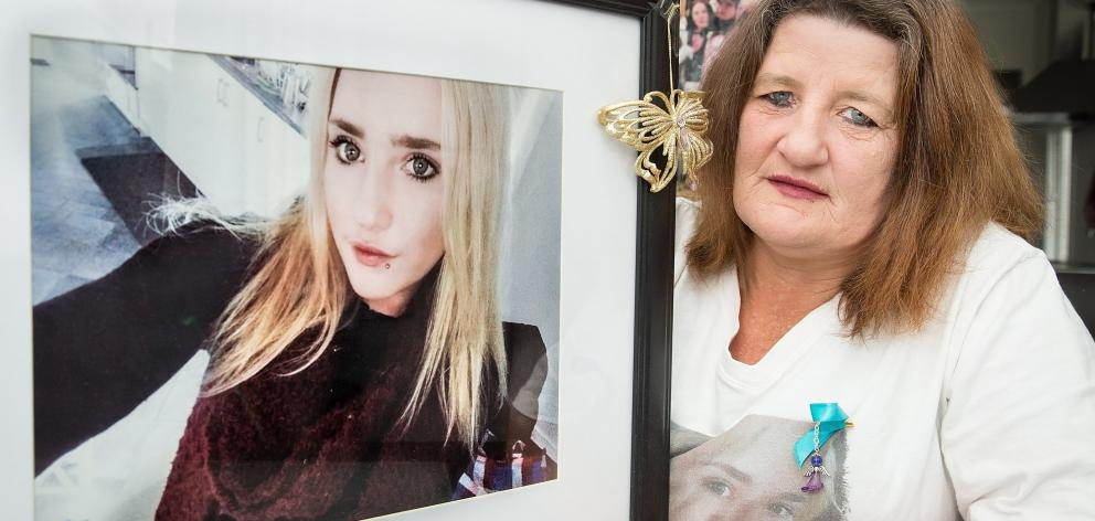 Angela O'Connor with a portrait of her daughter Alexia Noble, who was killed when the drunk...