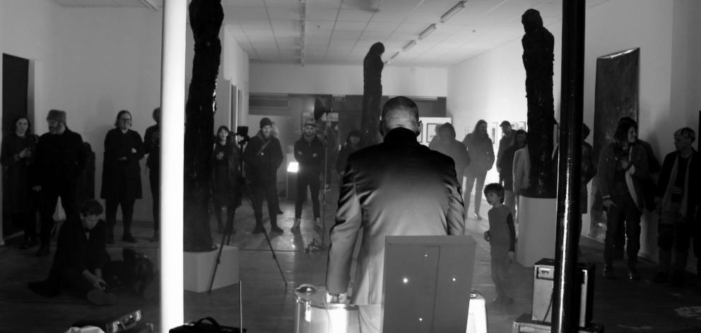 The opening of Becoming Darkness. Photo: Esta de Jong