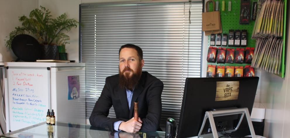 Vape Box owner Craig Dawson opened the first dedicated vape shop in Invercargill in 2016. Photo: Abbey Palmer