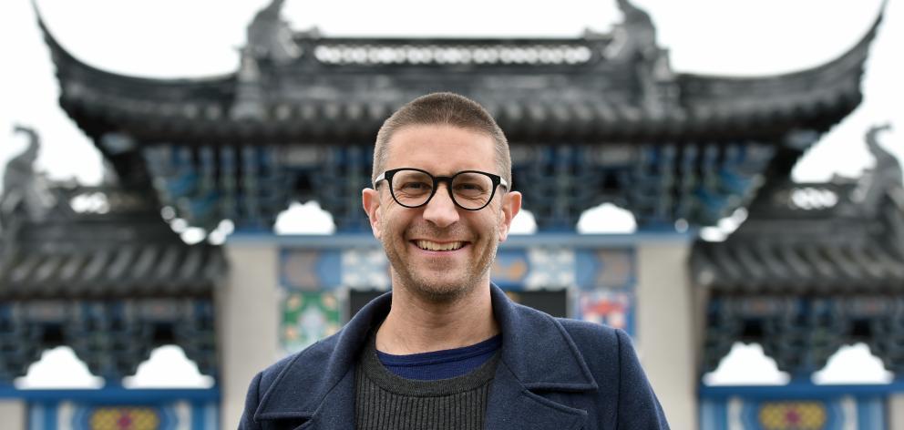 Associate Prof James Beattie, of Victoria University of Wellington, at the Dunedin Chinese Garden...