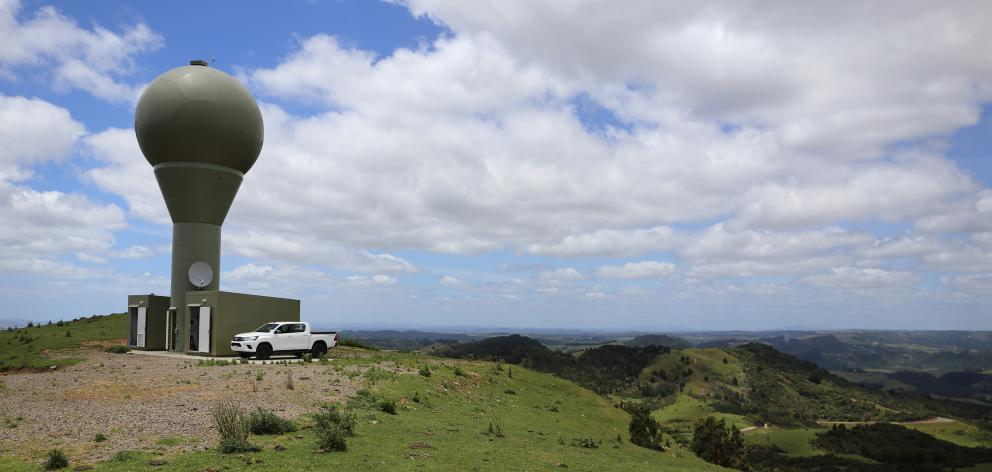 A MetService weather radar, similar to this one in Northland, will be built near Dunedin next year. Photo: MetService
