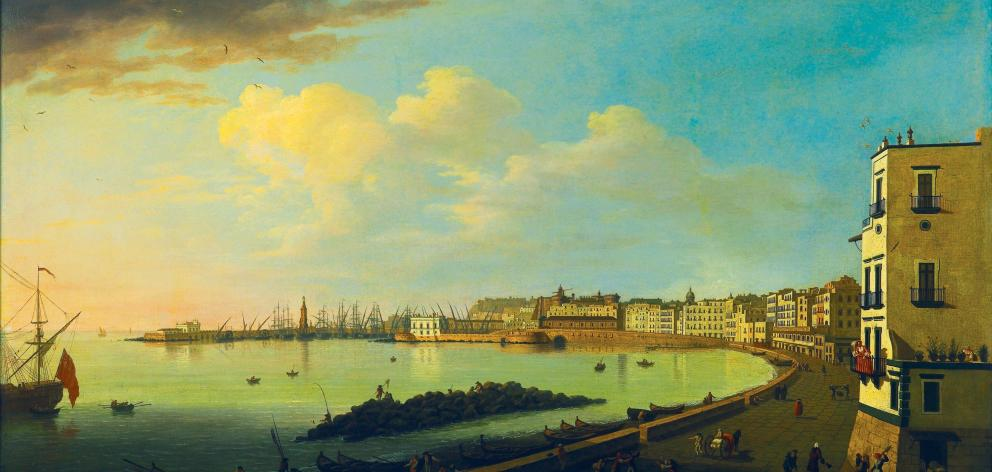 The Harbour, Naples c.18th century, by Thomas Patch. Photo: DPAG Collection