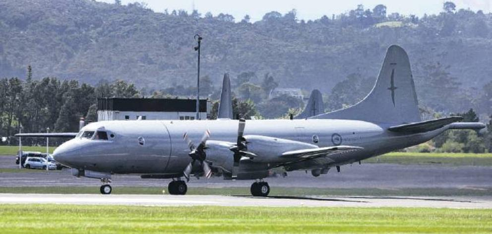 A Royal New Zealand Air Force Orion taxis into Whenuapai air base. PHOTO: NZME