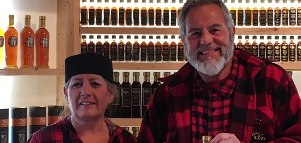 Danielle and Andre Pollander, Cabane du Pic Bois maple sugar shack, in Brigham, Quebec.